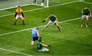23 June 2019; Con O'Callaghan of Dublin is fouled by Conor McGill of Meath resulting in a penalty during the Leinster GAA Football Senior Championship Final match between Dublin and Meath at Croke Park in Dublin. Photo by Brendan Moran/Sportsfile