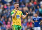 23 June 2019; Patrick McBrearty of Donegal celebrates at the final whistle of the Ulster GAA Football Senior Championship Final match between Donegal and Cavan at St Tiernach's Park in Clones, Monaghan. Photo by Ramsey Cardy/Sportsfile