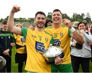 23 June 2019; Ryan McHugh and Paul Brennan of Donegal celebrates after the Ulster GAA Football Senior Championship Final match between Donegal and Cavan at St Tiernach's Park in Clones, Monaghan. Photo by Oliver McVeigh/Sportsfile