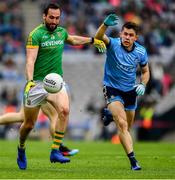 23 June 2019; Graham Reilly of Meath in action against David Byrne of Dublin during the Leinster GAA Football Senior Championship Final match between Dublin and Meath at Croke Park in Dublin. Photo by Ray McManus/Sportsfile
