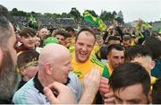 23 June 2019; Donegal manager Declan Bonner and captain Michael Murphy following the Ulster GAA Football Senior Championship Final match between Donegal and Cavan at St Tiernach's Park in Clones, Monaghan. Photo by Ramsey Cardy/Sportsfile