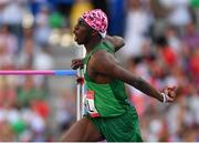 23 June 2019; Nelvin Appiah of Ireland celebrates during the Men's High Jump during Dynamic New Athletics qualification match three at Dinamo Stadium on Day 3 of the Minsk 2019 2nd European Games in Minsk, Belarus. Photo by Seb Daly/Sportsfile