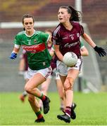 23 June 2019; Aine McDonagh of Galway in action against Clodagh McManamon of Mayo during the 2019 TG4 Connacht Ladies Senior Football Final match between Mayo and Galway at Elvery's MacHale Park in Castlebar, Mayo. Photo by Matt Browne/Sportsfile