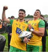 23 June 2019; Ryan McHugh, left, and Paul Brennan of Donegal following the Ulster GAA Football Senior Championship Final match between Donegal and Cavan at St Tiernach's Park in Clones, Monaghan. Photo by Ramsey Cardy/Sportsfile