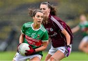 23 June 2019; Niamh Kelly of Mayo in action against Aine McDonagh of Galway during the 2019 TG4 Connacht Ladies Senior Football Final match between Mayo and Galway at Elvery's MacHale Park in Castlebar, Mayo. Photo by Matt Browne/Sportsfile