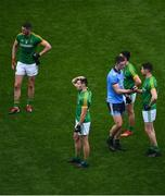 23 June 2019; Brian Fenton of Dublin commiserates with Seán Curran of Meath after the Leinster GAA Football Senior Championship Final match between Dublin and Meath at Croke Park in Dublin. Photo by Brendan Moran/Sportsfile
