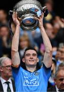 23 June 2019; Brian Fenton of Dublin lifts the Delaney cup after the Leinster GAA Football Senior Championship Final match between Dublin and Meath at Croke Park in Dublin. Photo by Ray McManus/Sportsfile