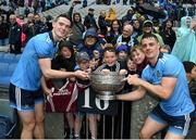 23 June 2019; Brian Fenton, left, and Brian Howard of Dublin celebrate with their Raheny club-mates after the Leinster GAA Football Senior Championship Final match between Dublin and Meath at Croke Park in Dublin. Photo by Daire Brennan/Sportsfile