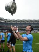 23 June 2019; Michael Darragh Macauley of Dublin celebrates with the Delaney cup after the Leinster GAA Football Senior Championship Final match between Dublin and Meath at Croke Park in Dublin. Photo by Daire Brennan/Sportsfile