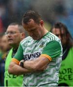 23 June 2019; A dejected Meath manager Andy McEntee the Leinster GAA Football Senior Championship Final match between Dublin and Meath at Croke Park in Dublin. Photo by Daire Brennan/Sportsfile