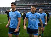 23 June 2019; Dublin substitutes Rory O'Carroll and Kevin McManamon are all smiles after the Leinster GAA Football Senior Championship Final match between Dublin and Meath at Croke Park in Dublin. Photo by Ray McManus/Sportsfile