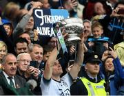 23 June 2019; Dublin captain Stephen Cluxton lifts the Delaney cup after the Leinster GAA Football Senior Championship Final match between Dublin and Meath at Croke Park in Dublin. Photo by Daire Brennan/Sportsfile
