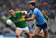 23 June 2019; James McEntee of Meath is tackled by Cian O'Sullivan of Dublin during the Leinster GAA Football Senior Championship Final match between Dublin and Meath at Croke Park in Dublin. Photo by Ray McManus/Sportsfile