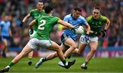 23 June 2019; Cormac Costello of Dublin in action against Séamus Lavin, 2, and Ronan Ryan of Meath during the Leinster GAA Football Senior Championship Final match between Dublin and Meath at Croke Park in Dublin. Photo by Ray McManus/Sportsfile