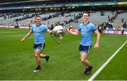 23 June 2019; Brian Fenton, right, and Brian Howard of Dublin celebrate after the Leinster GAA Football Senior Championship Final match between Dublin and Meath at Croke Park in Dublin. Photo by Daire Brennan/Sportsfile