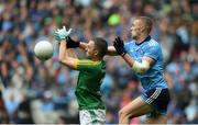 23 June 2019; Paul Mannion of Dublin in action against Conor McGill of Meath during the Leinster GAA Football Senior Championship Final match between Dublin and Meath at Croke Park in Dublin. Photo by Daire Brennan/Sportsfile