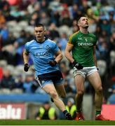 23 June 2019; Con O'Callaghan of Dublin celebrates after scoring his side's first goal during the Leinster GAA Football Senior Championship Final match between Dublin and Meath at Croke Park in Dublin. Photo by Daire Brennan/Sportsfile