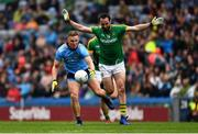 23 June 2019; Ciaran Kilkenny of Dublin  in action against Graham Reilly of Meath during the Leinster GAA Football Senior Championship Final match between Dublin and Meath at Croke Park in Dublin. Photo by Ray McManus/Sportsfile