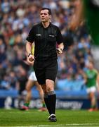 23 June 2019; Referee Sean Hurson during the Leinster GAA Football Senior Championship Final match between Dublin and Meath at Croke Park in Dublin. Photo by Ray McManus/Sportsfile