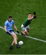 23 June 2019; Brian Fenton of Dublin in action against Bryan Menton of Meath during the Leinster GAA Football Senior Championship Final match between Dublin and Meath at Croke Park in Dublin. Photo by Brendan Moran/Sportsfile