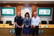22 June 2019; Mark Smyth, Siobhan Donnelly, Peter Whyte from Newbridge Town, Kildare, during the FAI Club of the Year Information Day at FAI National Training Centre in Abbotstown, Dublin. Photo by Eóin Noonan/Sportsfile