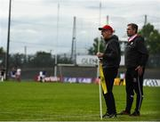 22 June 2019; Tyrone manager Mickey Harte, left, with assistant manager Gavin Devlin during the GAA Football All-Ireland Senior Championship Round 2 match between Longford and Tyrone at Glennon Brothers Pearse Park in Longford.  Photo by Eóin Noonan/Sportsfile