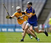 22 June 2019; Trevor Lee of Lancashire in action against Karl McDermott of Leitrim during the Lory Meagher Cup Final match between Leitrim and Lancashire at Croke Park in Dublin.  Photo by Matt Browne/Sportsfile