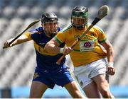 22 June 2019; Clement Cunniffe of Leitrim in action against Colm Larkin of Lancashire during the Lory Meagher Cup Final match between Leitrim and Lancashire at Croke Park in Dublin.  Photo by Matt Browne/Sportsfile