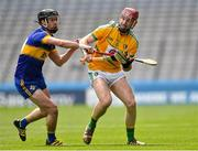 22 June 2019; Liam Moreton of Leitrim in action against Darren Crowley of Lancashire during the Lory Meagher Cup Final match between Leitrim and Lancashire at Croke Park in Dublin.  Photo by Matt Browne/Sportsfile