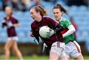 23 June 2019; Louise Ward of Galway in action against Kathryn Sullivan of Mayo during the 2019 TG4 Connacht Ladies Senior Football Final match between Mayo and Galway at Elvery's MacHale Park in Castlebar, Mayo. Photo by Matt Browne/Sportsfile