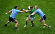 23 June 2019; Shane Gallagher of Meath is tackled by Brian Howard, left, and Paul Mannion of Dublin during the Leinster GAA Football Senior Championship Final match between Dublin and Meath at Croke Park in Dublin. Photo by Brendan Moran/Sportsfile