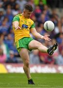 23 June 2019; Patrick McBrearty of Donegal kicks a free during the Ulster GAA Football Senior Championship Final match between Donegal and Cavan at St Tiernach's Park in Clones, Monaghan. Photo by Ramsey Cardy/Sportsfile