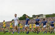 23 June 2019; The Cavan team parades ahead of the Ulster GAA Football Senior Championship Final match between Donegal and Cavan at St Tiernach's Park in Clones, Monaghan. Photo by Ramsey Cardy/Sportsfile