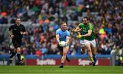 23 June 2019; Referee Sean Hurson keeps a close eye as Graham Reilly of Meath prepares to tackle Ciaran Kilkenny of Dublin during the Leinster GAA Football Senior Championship Final match between Dublin and Meath at Croke Park in Dublin. Photo by Ray McManus/Sportsfile