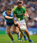 23 June 2019; Cormac Costello of Dublin is tackled by Graham Reilly of Meath during the Leinster GAA Football Senior Championship Final match between Dublin and Meath at Croke Park in Dublin. Photo by Ray McManus/Sportsfile