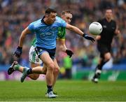 23 June 2019; Cormac Costello of Dublin in action against Ronan Ryan of Meath during the Leinster GAA Football Senior Championship Final match between Dublin and Meath at Croke Park in Dublin. Photo by Ray McManus/Sportsfile