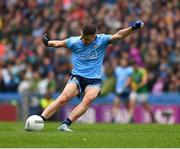23 June 2019; Cormac Costello of Dublin kicks a free  during the Leinster GAA Football Senior Championship Final match between Dublin and Meath at Croke Park in Dublin. Photo by Ray McManus/Sportsfile