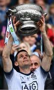 23 June 2019; Dublin captain Stephen Cluxton lifts the Delaney Cup after the Leinster GAA Football Senior Championship Final match between Dublin and Meath at Croke Park in Dublin. Photo by Ray McManus/Sportsfile