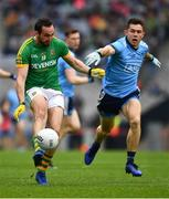 23 June 2019; Adam Flanagan of Meath in action against David Byrne of Dublin during the Leinster GAA Football Senior Championship Final match between Dublin and Meath at Croke Park in Dublin. Photo by Ray McManus/Sportsfile