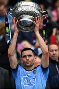 23 June 2019; Niall Scully of Dublin lifts the Delaney Cup after the Leinster GAA Football Senior Championship Final match between Dublin and Meath at Croke Park in Dublin. Photo by Ray McManus/Sportsfile