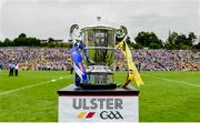 23 June 2019; A general view of the Anglo Celt cup before the Ulster GAA Football Senior Championship Final match between Donegal and Cavan at St Tiernach's Park in Clones, Monaghan. Photo by Oliver McVeigh/Sportsfile