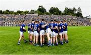23 June 2019; The Cavan pre match team huddle before  the Ulster GAA Football Senior Championship Final match between Donegal and Cavan at St Tiernach's Park in Clones, Monaghan. Photo by Oliver McVeigh/Sportsfile