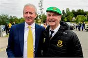 23 June 2019; Former Donegal players Pauric McShea and Brian McEniff before the Ulster GAA Football Senior Championship Final match between Donegal and Cavan at St Tiernach's Park in Clones, Monaghan. Photo by Oliver McVeigh/Sportsfile