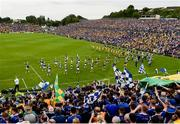 23 June 2019; Donegal and Cavan on parade before the Ulster GAA Football Senior Championship Final match between Donegal and Cavan at St Tiernach's Park in Clones, Monaghan. Photo by Oliver McVeigh/Sportsfile