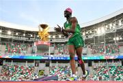 25 June 2019; Nelvin Appiah of Ireland reacts are failing to clear the bar during the Men's High Jump during Dynamic New Athletics qualification match three at Dinamo Stadium on Day 5 of the Minsk 2019 2nd European Games in Minsk, Belarus.