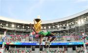 25 June 2019; Nelvin Appiah of Ireland competes in the Men's High Jump during Dynamic New Athletics qualification match three at Dinamo Stadium on Day 5 of the Minsk 2019 2nd European Games in Minsk, Belarus.