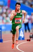 25 June 2019; Paul White of Ireland competes in The Hunt Mixed Medley Relay during Dynamic New Athletics quarter-final match two at Dinamo Stadium on Day 5 of the Minsk 2019 2nd European Games in Minsk, Belarus. Photo by Seb Daly/Sportsfile