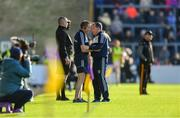 15 June 2019; Wexford manager Davy Fitzgerald, right, with selector Seoirse Bulfin during the Leinster GAA Hurling Senior Championship Round 5 match between Wexford and Kilkenny at Innovate Wexford Park in Wexford. Photo by Piaras Ó Mídheach/Sportsfile