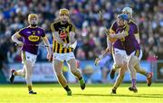 15 June 2019; Colin Fennelly of Kilkenny in action against Wexford players, from left, Simon Donohoe, Liam Ryan, behind, and Kevin Foley during the Leinster GAA Hurling Senior Championship Round 5 match between Wexford and Kilkenny at Innovate Wexford Park in Wexford. Photo by Piaras Ó Mídheach/Sportsfile