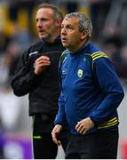 22 June 2019; Kerry manager Peter Keane, right, and selector Tommy Griffin during the Munster GAA Football Senior Championship Final match between Cork and Kerry at Páirc Ui Chaoimh in Cork.  Photo by Brendan Moran/Sportsfile